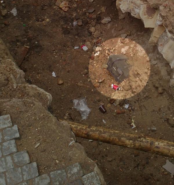 An ark uncovered below a Prague street during municipal infrastructure maintenance in August, 2005