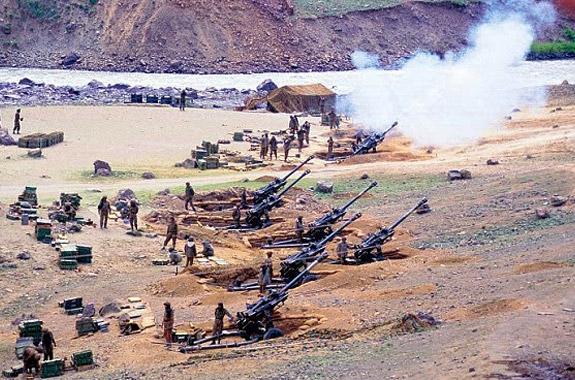 A skirmish along the India-Pakistan border