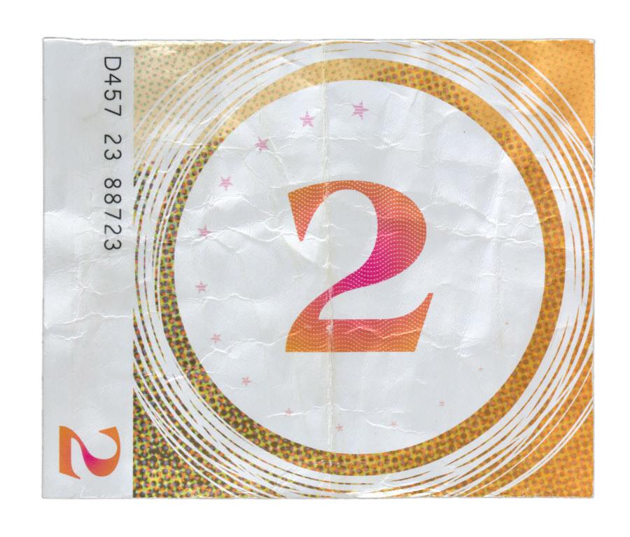 Replica of the $2 bill found in the Maddox Ark.