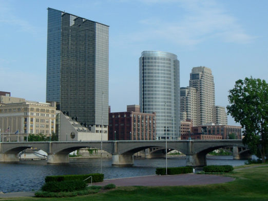 Downtown Grand Rapids, Michigan, home of the American Arkology Society's headquarters
