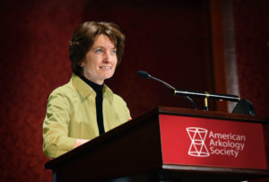 Trustee Eliza ZIsk addresses the AAS 2015 Annual Meeting