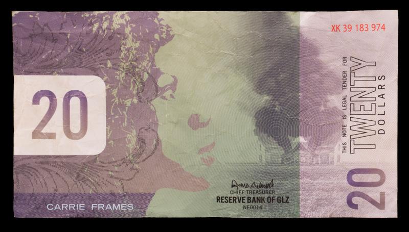 A $20 bill found in the Jarndyke Ark