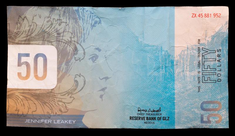 A $50 bill found in the Jarndyke Ark