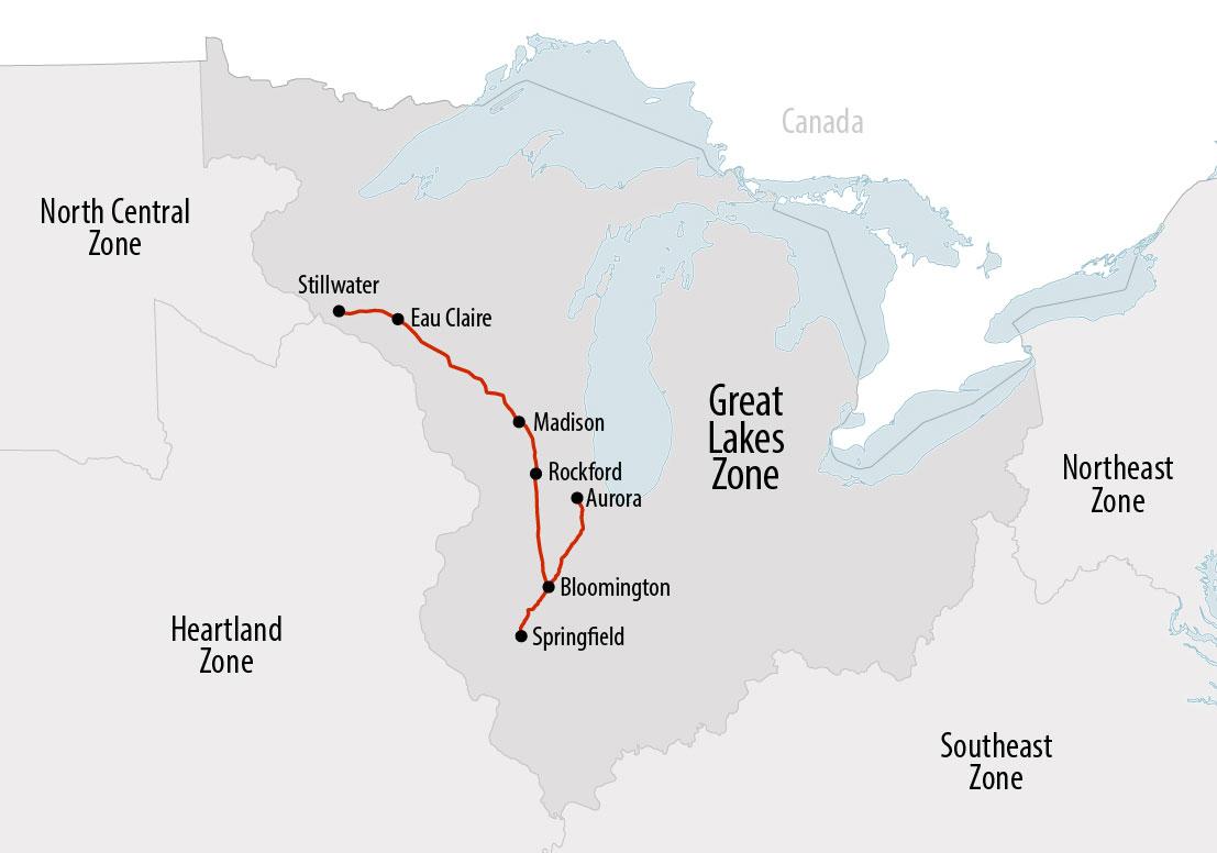 Map of Matthew Jarndyke's last known location