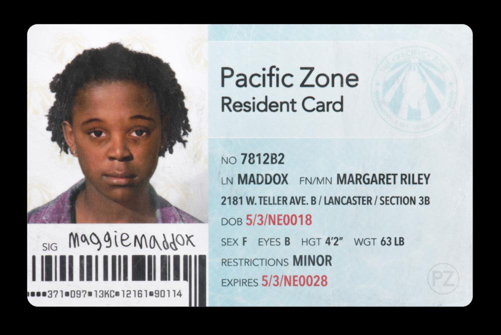 Maggie Maddox's identity card