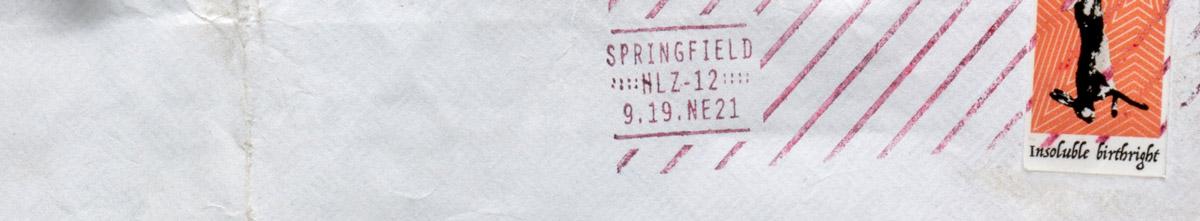 HLZ stamp and postmark