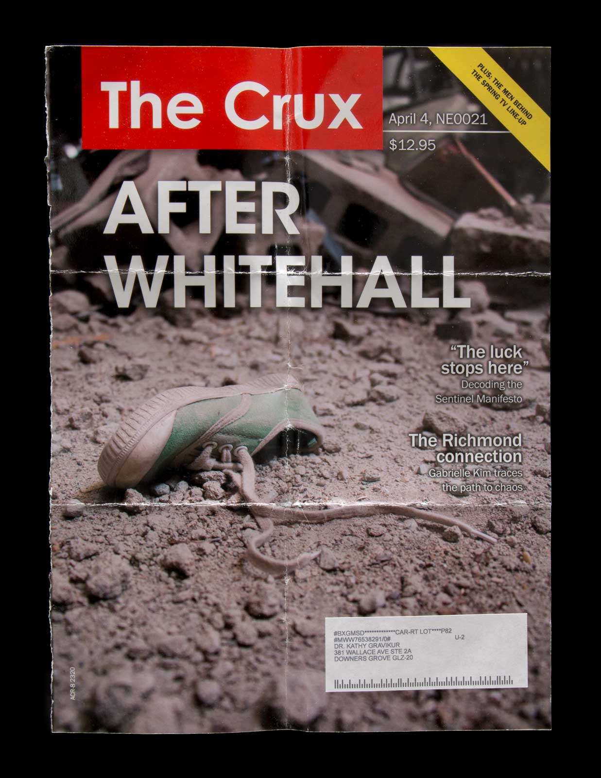 Crux magazine page found in the envelope in the Jarndyke Ark
