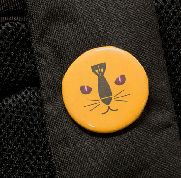 Button found on the backpack in the Maddox Ark