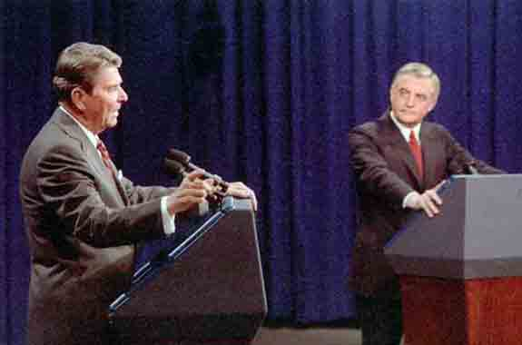 Ronald Reagan and Walter Mondale discuss the Arks in a 1984 Presidential debate