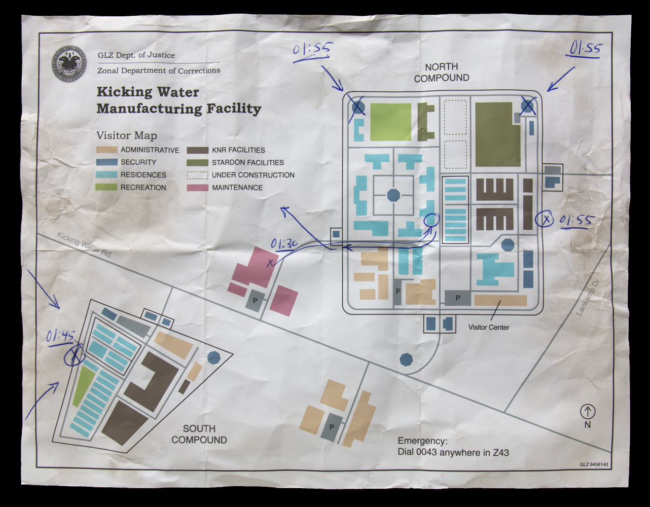 Map of the Kicking Water Manufacturing Facility
