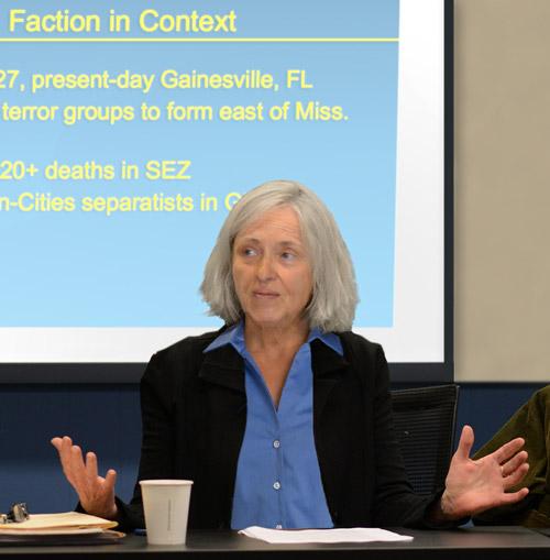 Linda Moorehead, recipient of 2019-2020 Masters H. Knopf Diplomacy Lectureship