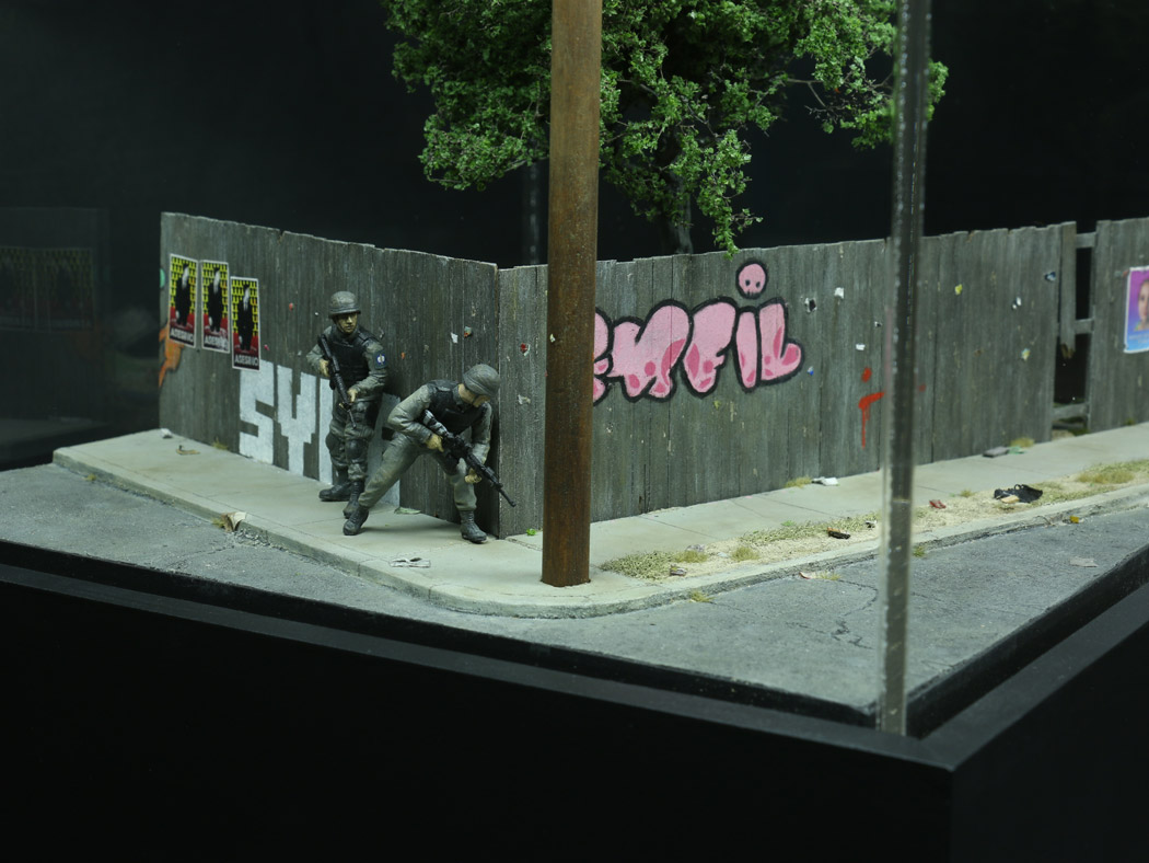 Operation Chinup, as depicted by artist Thomas Doyle in a model commissioned by the American Arkology Society