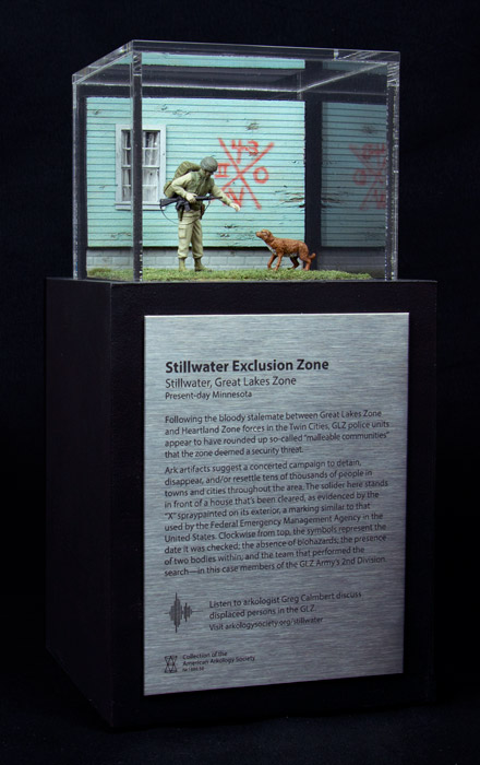 The Stillwater Exclusion Zone, as depicted by artist Thomas Doyle in a model commissioned by the American Arkology Society